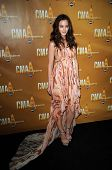 Leighton Meester  at the 44th Annual CMA Awards, Bridgestone Arena, Nashville, TN.  11-10-10