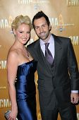 Katherine Heigl and Josh Kelly at the 44th Annual CMA Awards, Bridgestone Arena, Nashville, TN.  11-