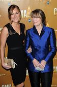 Schuyler Fisk and Sissy Spacek at the 44th Annual CMA Awards, Bridgestone Arena, Nashville, TN.  11-10-10