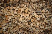 Stacks of split fire wood