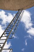 Industrial Architecture. Ladder To The Heaven.