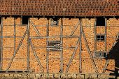 Rickety agriculture brick wall