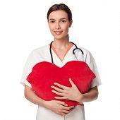 Medicine Student Holding A Big Heart
