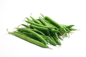 foto of green bean  - French Beans on an Isolated White Background - JPG