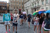 Teenagers Group Navona Rome