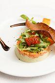 foto of tartar  - salmon tartar - JPG