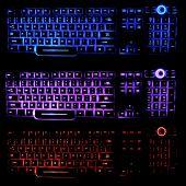 Holographic Illuminated Keyboards