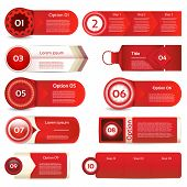 Design elements in red color. Vector collection. eps 10
