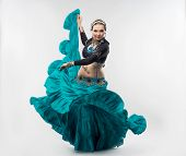 pic of national costume  - Exotic young belly dancer in the national costume is going to you - JPG