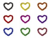 9 Hearts With Different Colors