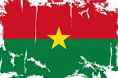 Burkina Faso grunge flag. Vector illustration