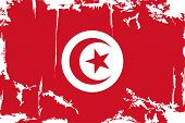 Tunisian grunge flag. Vector illustration