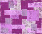 Vintage violet patchwork.