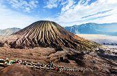 stock photo of bromo  - Hike in Bromo volcano - JPG