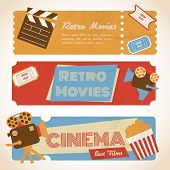 Retro movie banners