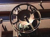 Brake Wheel On A Railroad Freight Car 1