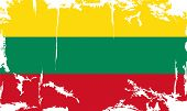 Lithuanian grunge flag. Vector illustration