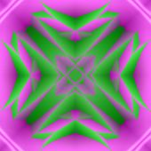 Mystically Abstract Pink And Green Background In Techno Style