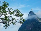 Statue Christ The Redeemer In Brasil