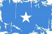 Somalia grunge flag. Vector illustration