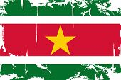 Surinam grunge flag. Vector illustration