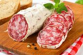 foto of charcuterie  - French Saucisson Sec  - JPG