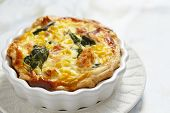 Quiche with salmon