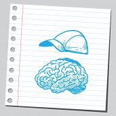 Brain and cap