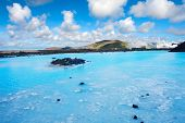 Blue water of the famous Icelandic Blue Lagoon spa is produced by near geothermal plant. The spa is