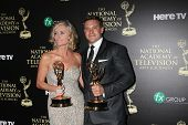 LOS ANGELES - JUN 22:  Eileen Davidson, Billy Miller at the 2014 Daytime Emmy Awards Press Room at t