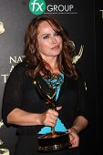 LOS ANGELES - JUN 22:  Crystal Chappell at the 2014 Daytime Emmy Awards Press Room at the Beverly Hi