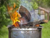 Firewood in the brazier
