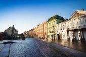 Hlavna street in sunshine, Kosice, Slovakia