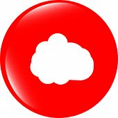 cloud web icon isolated on white background