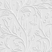 Abstract Pattern In Light Grey Colors.