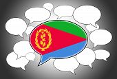stock photo of eritrea  - Communication concept  - JPG
