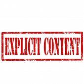 Explicit Content-stamp