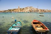 Marsaskala Bay With Boats, Malta
