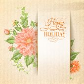 Chrysanthemum holiday card.