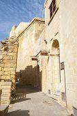 Medieval Steet In Victoria, Gozo, Malta