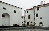Old Street And Square At Evora Town, Portugal