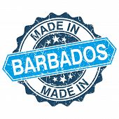 Made In Barbados Vintage Stamp Isolated On White Background