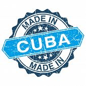Made In Cuba Vintage Stamp Isolated On White Background