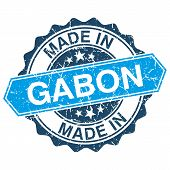 Made In Gabon Vintage Stamp Isolated On White Background