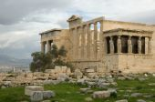 stock photo of akropolis  - Caryatid Porch of Erechtheum at Akropolis - JPG