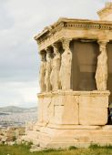 Caryatid Porch Of Erechtheum At Akropolis. Athens, Greece
