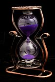 Hourglass With Purple Sand