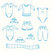 Baby boy garments set