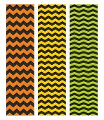 Tile chevron vector pattern set with zig zag on black background