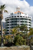 Modern hotels on Playa de Las Americas, Tenerife